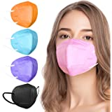 KN95 Face Mask, Disposable KN95 Masks Included on EUA List, Colorful Fashion Individually Wrapped Breathable Cup Dust Masks w