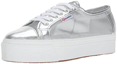 Superga Women's 2790 Netw Fashion Sneaker, Silver, ...