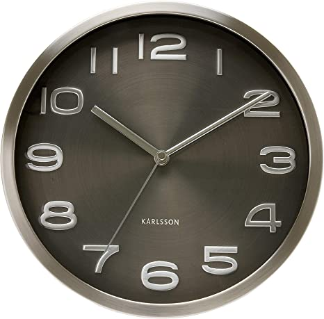 Amazon Com Present Time Karlsson Wall Clock Maxie Black Home Kitchen
