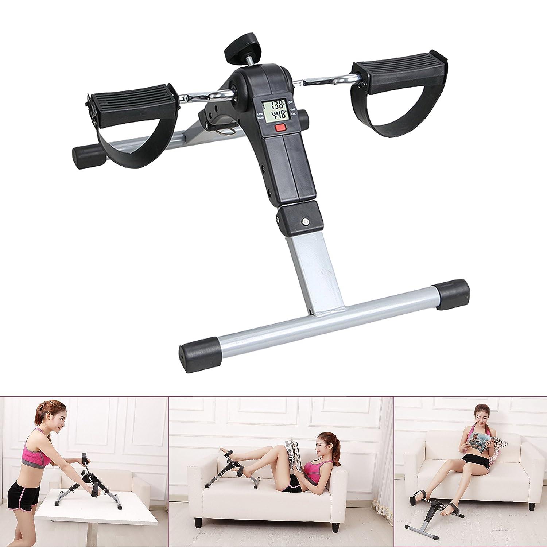 Ancheer Pedaltrainer, Pedal Trainingsgerät Beintrainer, Bewegungstrainer klappbar mit Zählwerk, geeignet für für Arme, Schultern und Beine (Schwarz) EUVPHAI® ZQ255