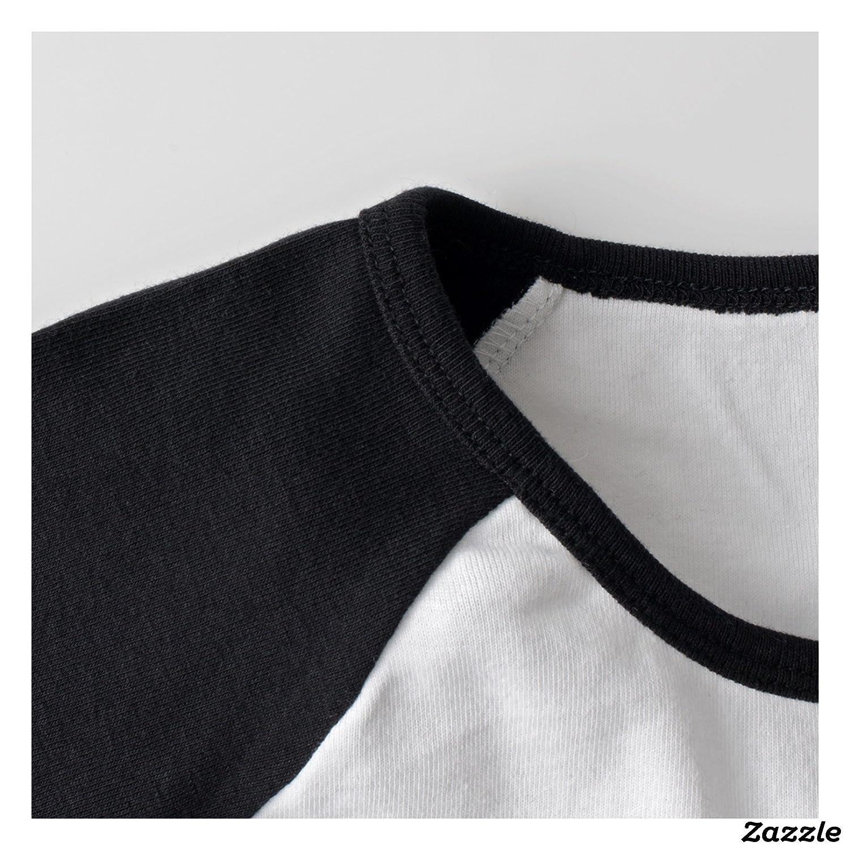 RERR Women's Morrison Poster Raglan 3/4 Sleeve T-Shirt Black