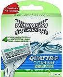 Wilkinson - Quattro Titanium Sensitive - Lames de rasoir pour Homme - Pack de 12