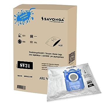 savonga SV21 10/20/30 bolsas de aspiradora para AEG Philips ...