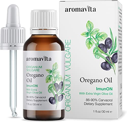 ImunON Greek Oregano Oil – Oregano Essential Oil Containing Over 86-90 Carvacrol – Vegan Friendly Oregano Oil Dietary Supplement