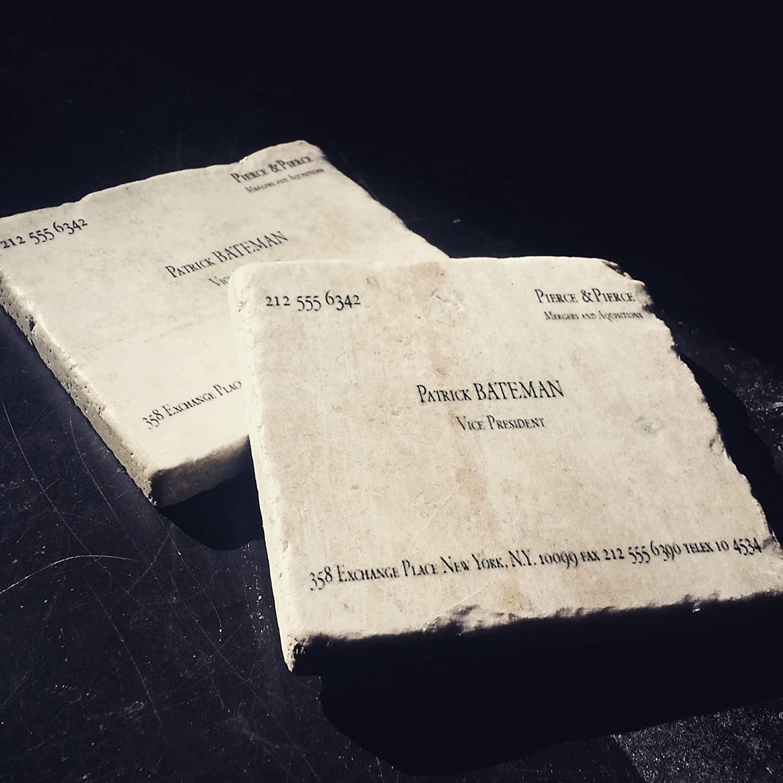 Amazon Patrick Bateman MURDERS & EXECUTIONS Business Card