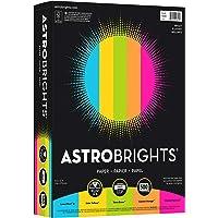 """Color Paper, 8.5"""" x 11"""", 24 lb/89 GSM, """"Brights"""" 5-Color Assortment, 500 Sheet"""