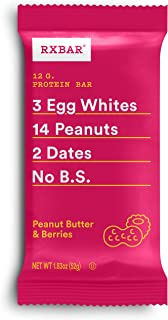 product image for RXBAR, Peanut Butter & Berries, Protein Bar, 1.83 Ounce (Pack of 12), High Protein Snack, Gluten Free
