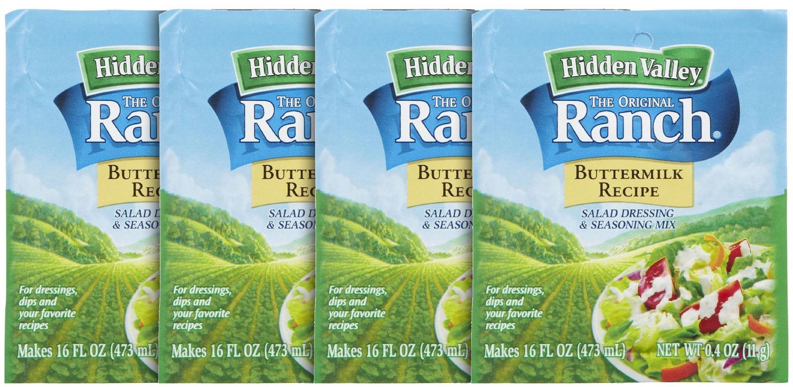 Hidden Valley The Original Ranch Salad Dressing Mix - Buttermilk - 0.4 oz - 4 pk