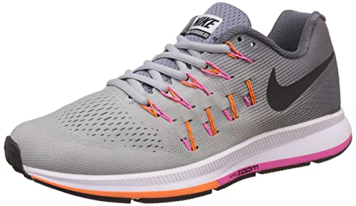 891c122e7d81 Image Unavailable. Image not available for. Colour  Nike Men s Air Zoom  Pegasus 33 Grey Running Shoes ...