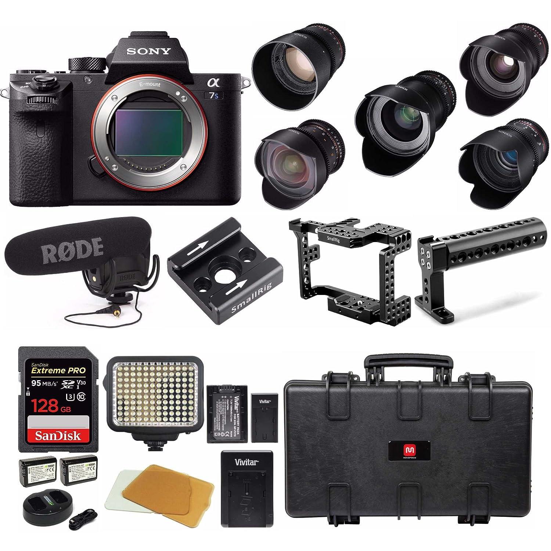 Sony Alpha a7S II cámara sin espejo w/Rokinon 5-lens completo Kit de ...