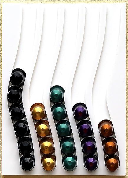 Dispensador de cápsulas nespresso, 50 cápsulas (blanco): Amazon.es: Hogar