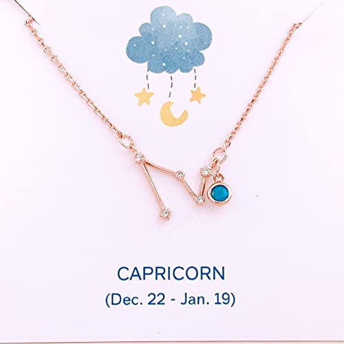 Gold and Pink Jewelry Sagittarius Jewelry Zodiac Necklace Sagittarius Necklace Horoscope Gifts Personalized Initial and Birthstone