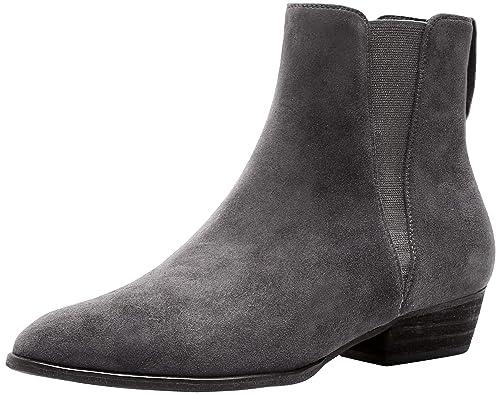ba1ca8385 SimpleC Mujeres Boots Clásico Color Puro Banda elástica sin Cordones Punta  Redonda