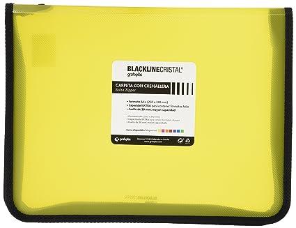 Grafoplás 4800660 - Carpeta con cremallera, color amarillo, A4+ ...