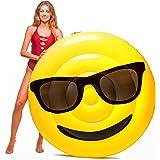 Floatie Kings Gafas Emoji Flotador de Piscina - Balsa Inflable Gigante