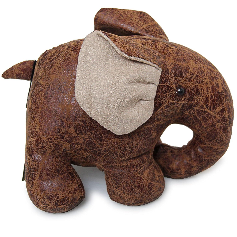 Homescapes Sujeta Puertas de Piel sintética, diseño de Elefante, Color Marrón: Amazon.es: Hogar