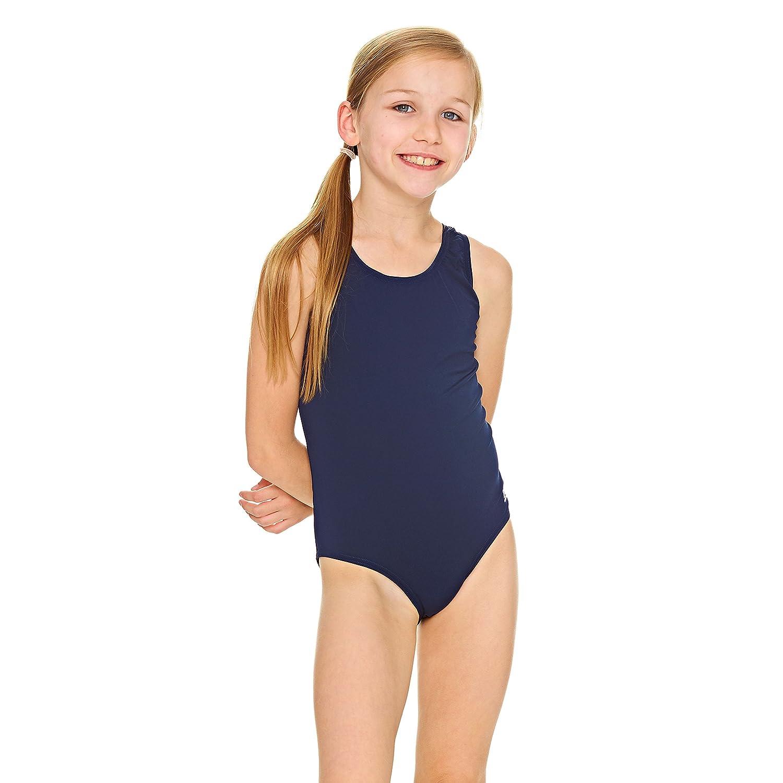 Zoggs Cottesloe Sportsback, Costume da Bagno Bambina, Navy, 140 555042530