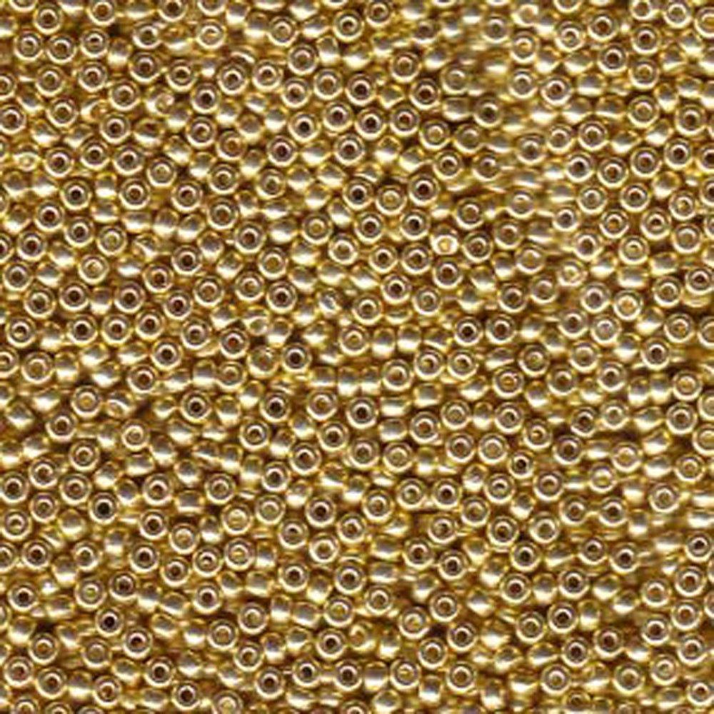 Galvanized Gold Miyuki Japanese round rocailles glass seed beads 11/0 Approximately 24 gram 5 inch tube