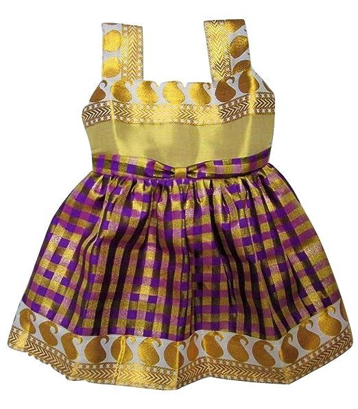 b5a7436fe Ethnic Indian Kids Pattu Frock Lehenga Choli(Violet) Size  20 ...