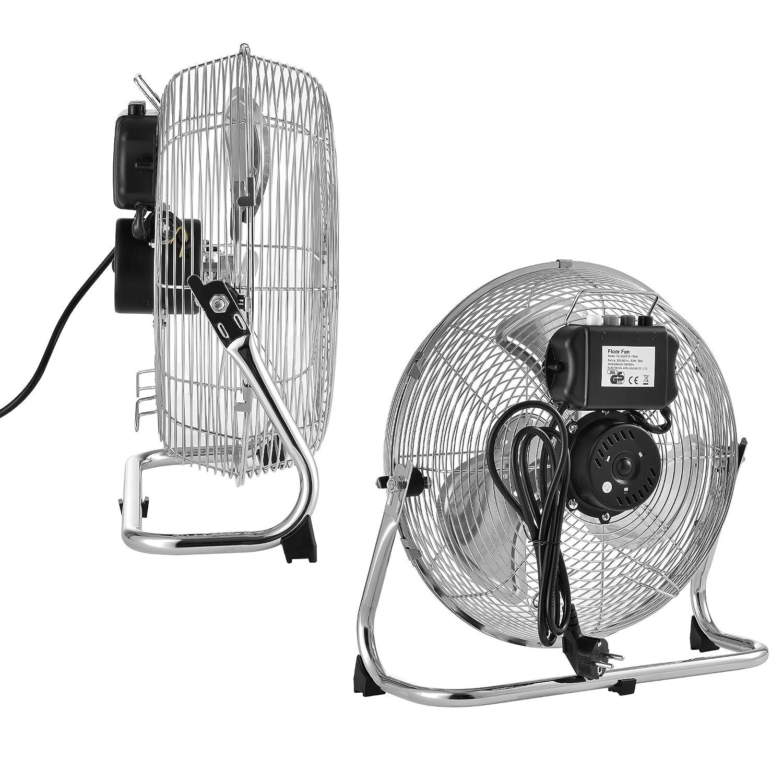 in.tec m/étal 39x18x39cm /® Ventilateur de table 3 vitesses argent /ø30cm