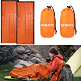 DIBBATU Emergency Survival Sleeping Bag, Thermal Bivy Sack Blanket, Waterproof Lightweight, Mylar Portable Nylon Sack for Cam