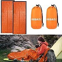 DIBBATU Emergency Survival Sleeping Bag, Thermal Bivy Sack Blanket, Waterproof Lightweight, Mylar Portable Nylon Sack…
