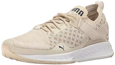 0b928094a61302 PUMA Men s Ignite Evoknit LO Pavement Cross-Trainer Shoe Oatmeal Vintage  Khaki Peacoat