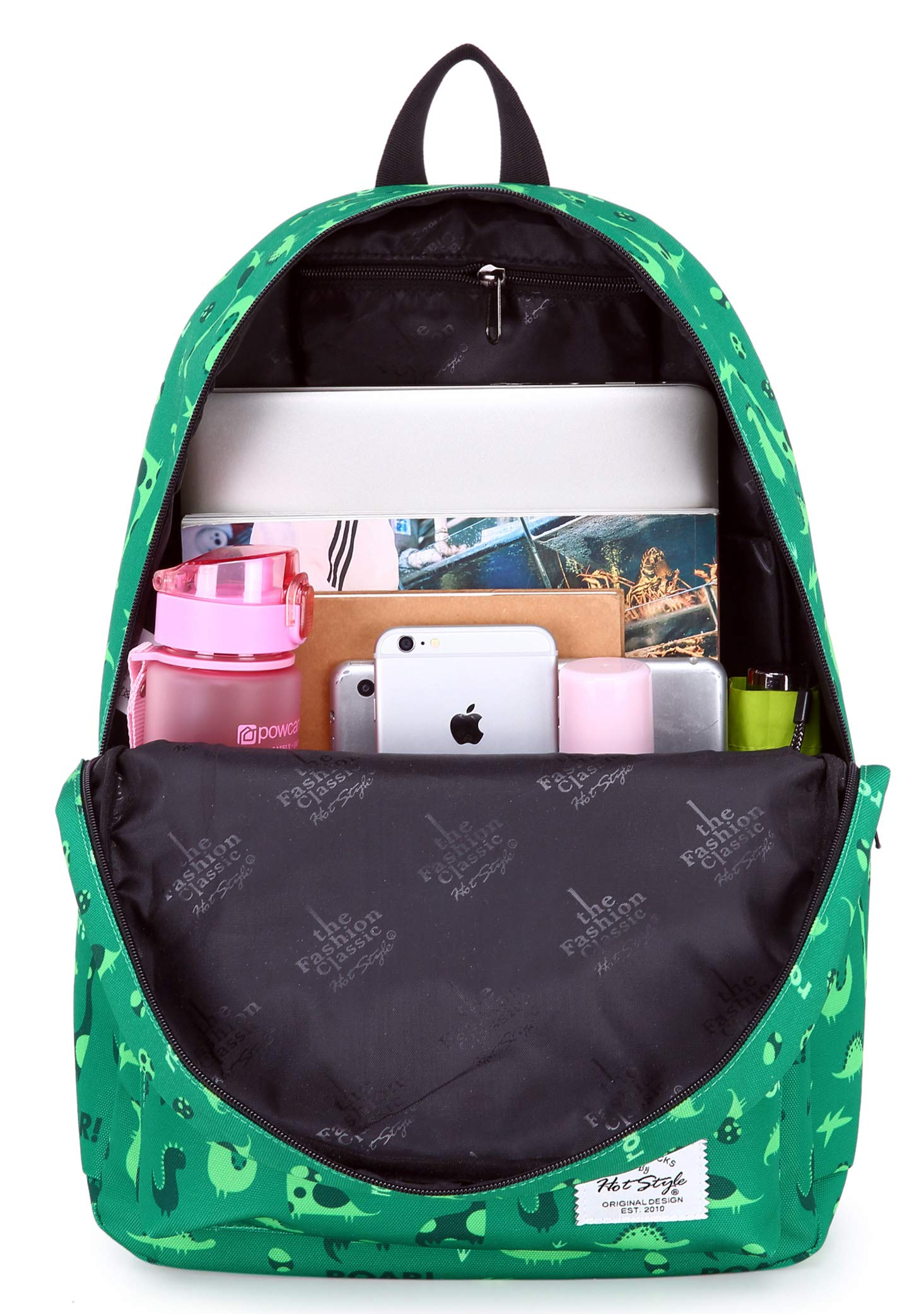 hotstyle TRENDYMAX Backpack Cute for School | 16''x12''x6'' | Holds 15.4-inch Laptop | Dinosaurs, Green by hotstyle (Image #6)