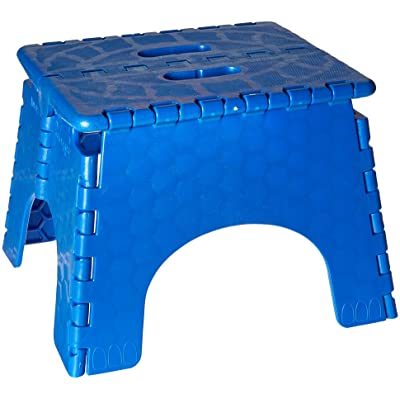 Folding Step Stool - #101-6B - 9 Inches High - 300 Pound Capacity - Blue: Automotive