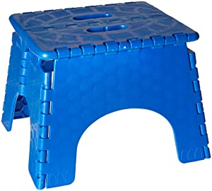 Folding Step Stool - #101-6B -9 Inches High - 300 Pound Capacity - Blue