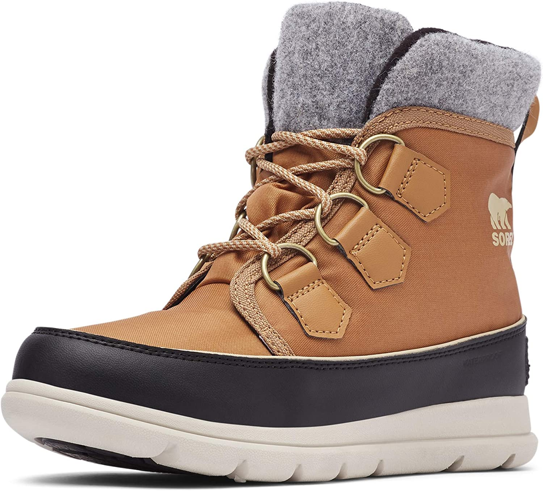 Black Sports Outdoors Warm Sorel Womens Explorer Carnival Walking Boots