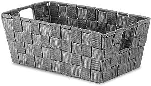 Whitmor Woven Strap Small Shelf Tote Savvy Gray