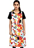 Ruvanti Chef Aprons for Women-100%Cotton Durable Kitchen Apron with Pockets,Plus Size Adjustable Neck Strap,Long Ties…