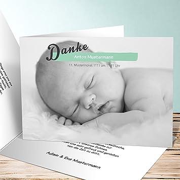 Dankeskarten Geburt, Babys Maße 175 Karten, Horizontale Klappkarte ...