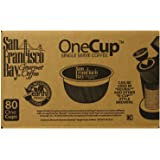 San Francisco Bay Coffee French Roast Single Serve Cups 80 OneCup