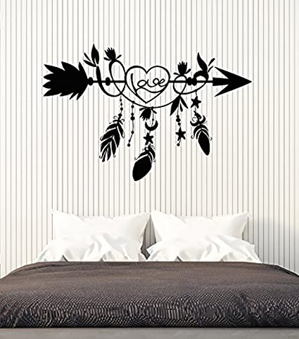 Amazon Com Amazing Home Decor Vinyl Wall Decal Ethnic Arrow Love