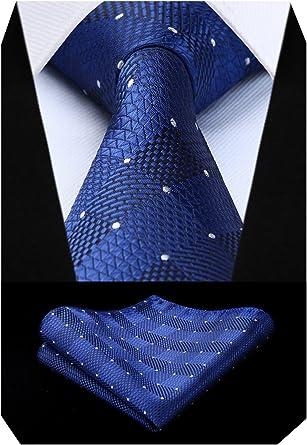 BIYINI Juego de corbata y bolsillo con panuelo en forma de panuelo ...