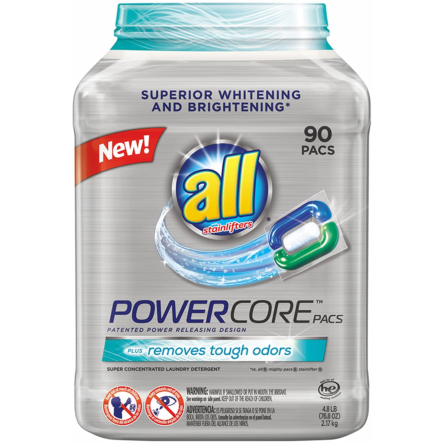 Amazon.com: All Powercore Laundry Detergent, 76.8 Fluid Ounce: Health & Personal Care