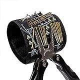 ErKan Magnetisches Armband mit 5 super leistungsstarken Magneten für Haltewerkzeuge Schrauben, Nägel, Bohrer und Scheren