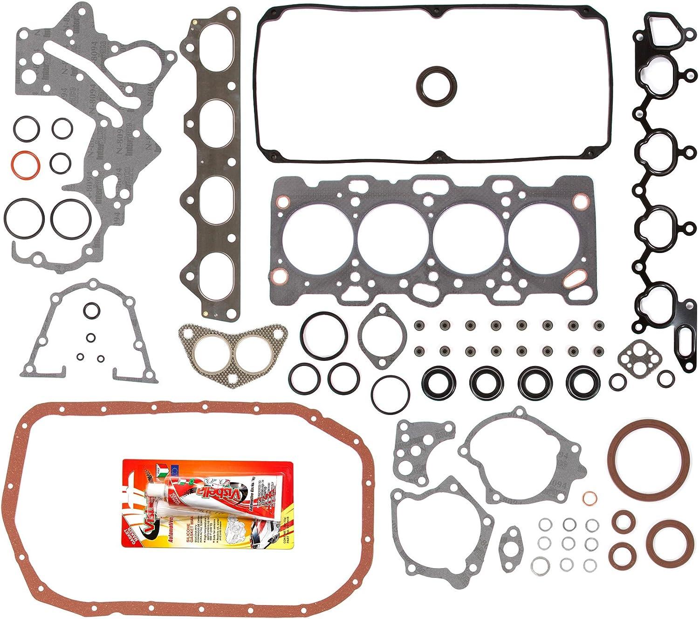 Standard Size Main Rod Bearings Standard Size Piston Rings Domestic Gaskets Engine Rering Kit FSBRR5039-2EVE\0\0\0 Fits 98-99 Mitsubishi Montero Sport 2.4L SOHC 4G64 Full Gasket Set