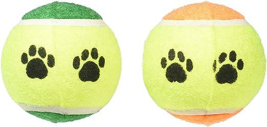 Greenbrier International Inc perro juguete Pack de dos pelotas de tenis: Amazon.es: Productos para mascotas