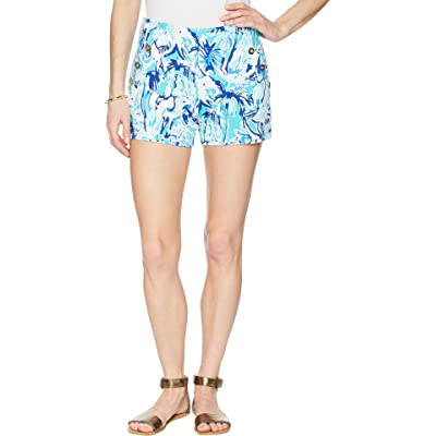 Lilly Pulitzer Marina Knit Shorts Tropical Turquoise Elephant Appeal 0 at Women's Clothing store