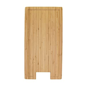 "BambooMN Brand Bamboo Griddle Cover/Cutting Board for Viking Cooktops, New Vertical Cut, Small (10.25""x19.8""x0.75"")"