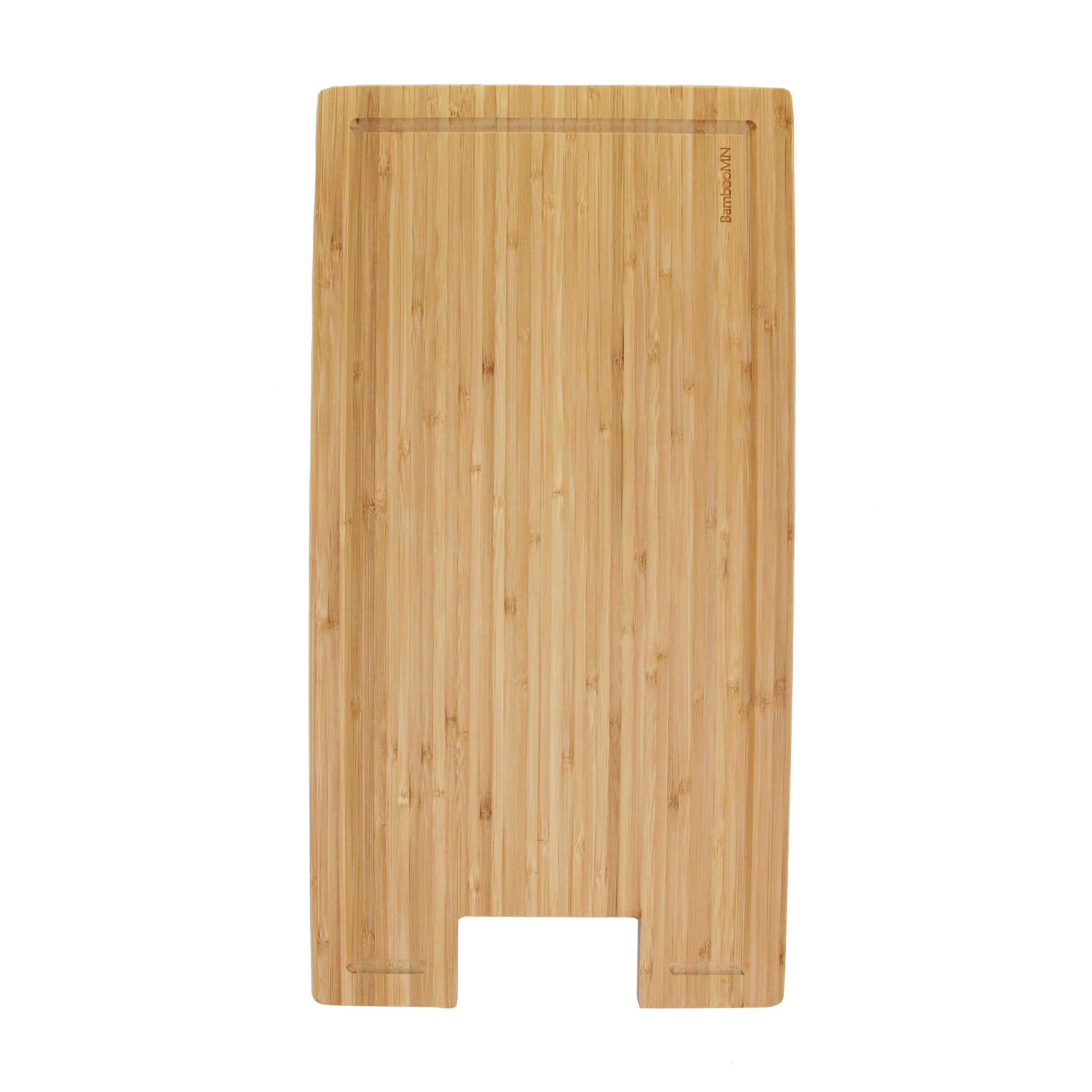 BambooMN Brand Bamboo Griddle Cover/Cutting Board for Viking Cooktops, New Vertical Cut, Small (10.25''x19.8''x0.75'')