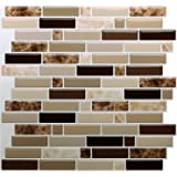 """12"""" x 12"""" Peel and Stick Self Adhesive Kitchen Backsplash,Stick On Tile Backsplash for Kitchen & Bathroom(10 Sheets)"""