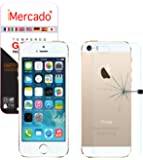 Screen Protector iPhone SE 5S 5 iMercado (Pack of 2, Tempered Glass, Front and Back)