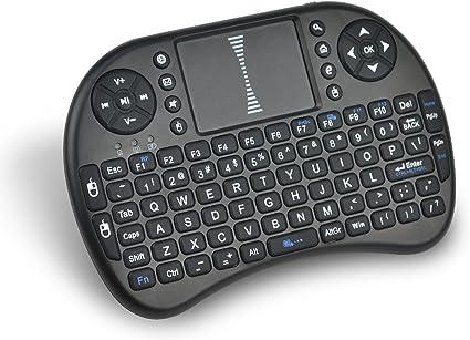 Tonbux Smart Bracelet TONBUX 2.4 GHz Mini Teclado Wireless Keyboard Ratón Táctil inalámbrico con Touchpad (US Layout) para PC, Android TV Box, Ordenadores, Color Negro: Amazon.es: Informática