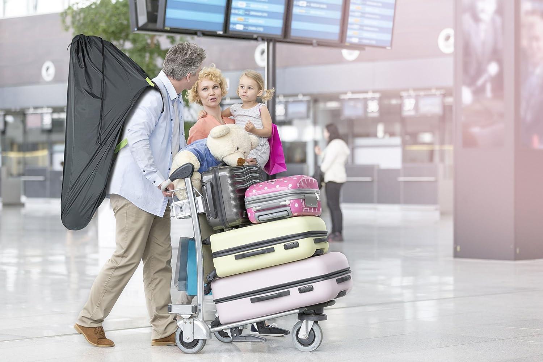Beschan Verst/ärkt Standard Doppel XL Kinderwagen Transporttaschen Verdicken Tragetasche Faltbar mit Schulterriemen f/ür Flughafen Bahnhof Autofahrten