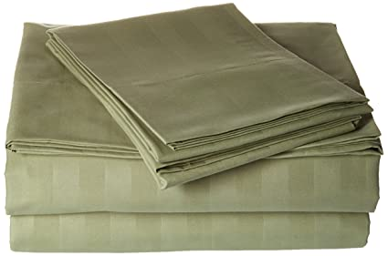 Elegant Comfort Best, Softest, Coziest STRIPE Sheets Ever! 1500 Thread  Count Egyptian Quality