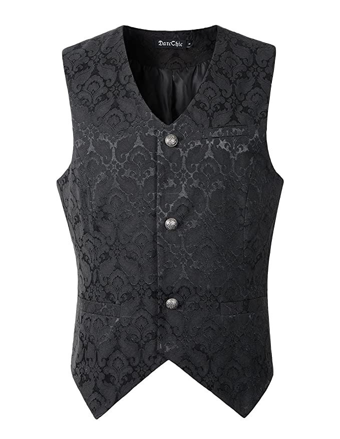 Men's Vintage Christmas Gift Ideas Mens Vest Waistcoat Gothic Steampunk Victorian $33.00 AT vintagedancer.com